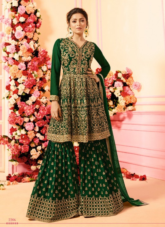 Green Georgette Sharara Kameez Nitya Vol-122 2206 By Lt Fabrics
