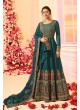Green Chanderi Silk Floor Length Anarkali Nitya Vol-122 2208 By Lt Fabrics