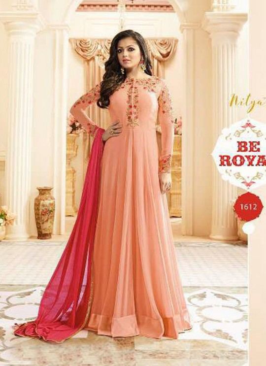 Drashti Dhami Pink Embroidered Wedding Wear Floor Length Anarkali Nitya Vol 106 1612 By LT Fabrics SC/010598
