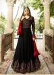 Drashti Dhami Black Embroidered Wedding Wear Floor Length Anarkali Nitya Vol 113 2304 By LT Fabrics  SC/009004