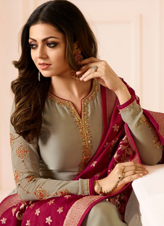Drashti Dhami Beige Embroidered Wedding Wear Churidar Suits Nitya Vol-120 2002 By LT Fabrics SC/009971