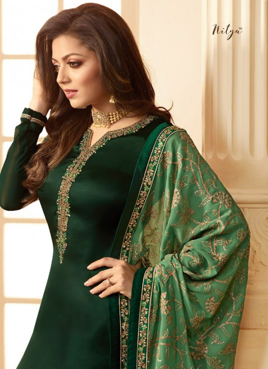 Drashti Dhami Green Embroidered Party Wear Churidar Suits Nitya Vol 123 2302 By LT Fabrics SC/012046