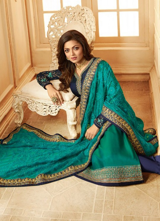 Drashti Dhami Green Embroidered Wedding Wear Churidar Suits Nitya Vol 123 2304 By LT Fabrics SC/012048