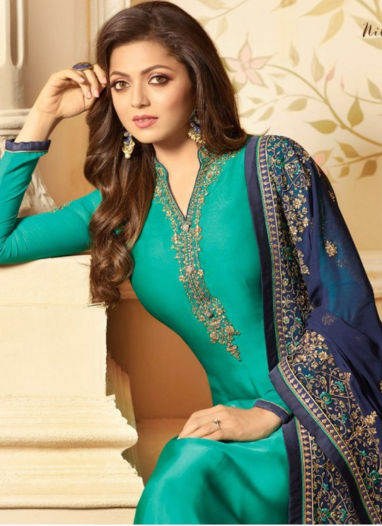 Drashti Dhami Green Embroidered Wedding Wear Churidar Suits Nitya Vol 123 2309 By LT Fabrics SC/012053