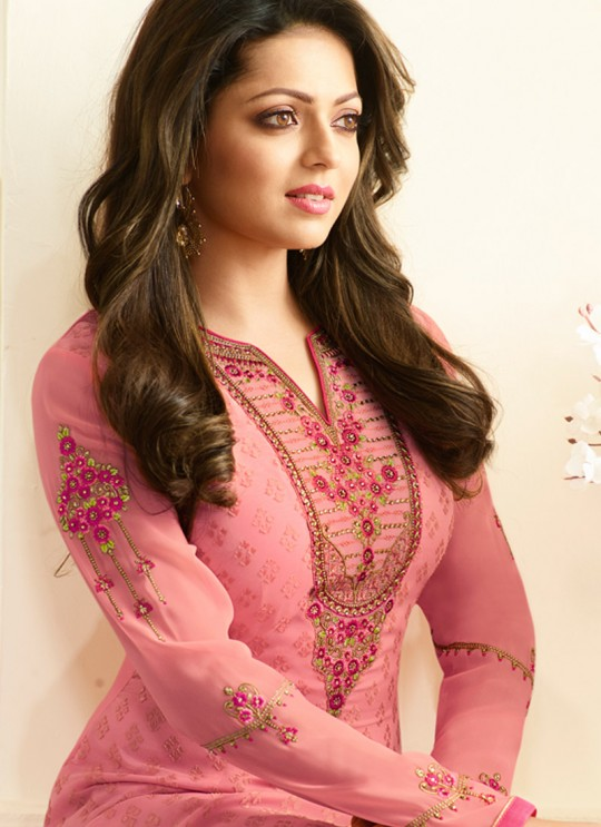 Drashti Dhami Pink Embroidered Festival Wear Churidar Suits Nitya Vol 127 2709 Set By LT Fabrics SC/012777