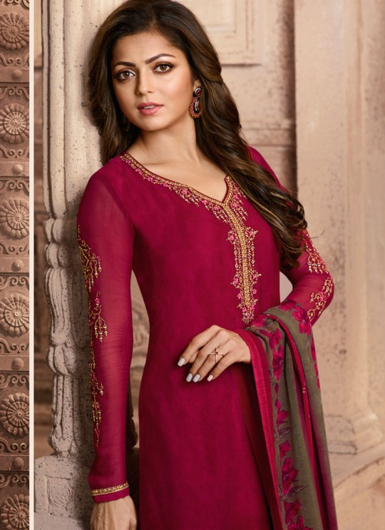 Drashti Dhami Pink Embroidered Festival Wear Straight Suits Nitya Vol 129 2905 Set By LT Fabrics SC/013165