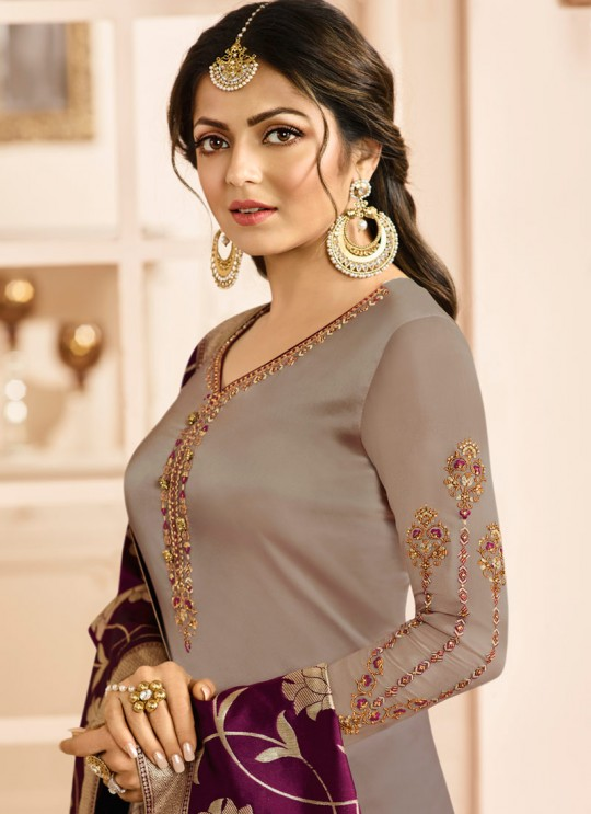Drashti Dhami Beige Embroidered Wedding Wear Churidar Suits Nitya Vol 131 3109 By LT Fabrics SC/013574