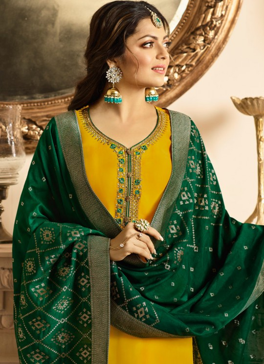 Drashti Dhami Yellow Embroidered Wedding Wear Churidar Suits Nitya Vol 131 3105 By LT Fabrics SC/013570