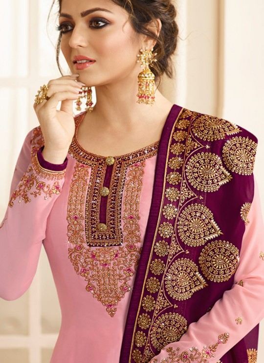 Satin Georgette Embroidered Ceremony Churidar Suits In Color Nitya Vol 132 3203 By LT Fabrics SC/013956