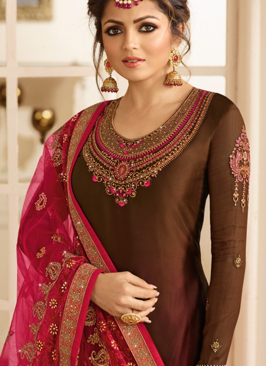Satin Georgette Embroidered Party Wear Churidar Suits In Color Nitya Vol 132 3209 By LT Fabrics SC/013962