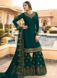 Bridesmaids Georgette Embroidered Garara Suits In Green Color Nitya Vol 136 3607 By LT Fabrics SC/015147