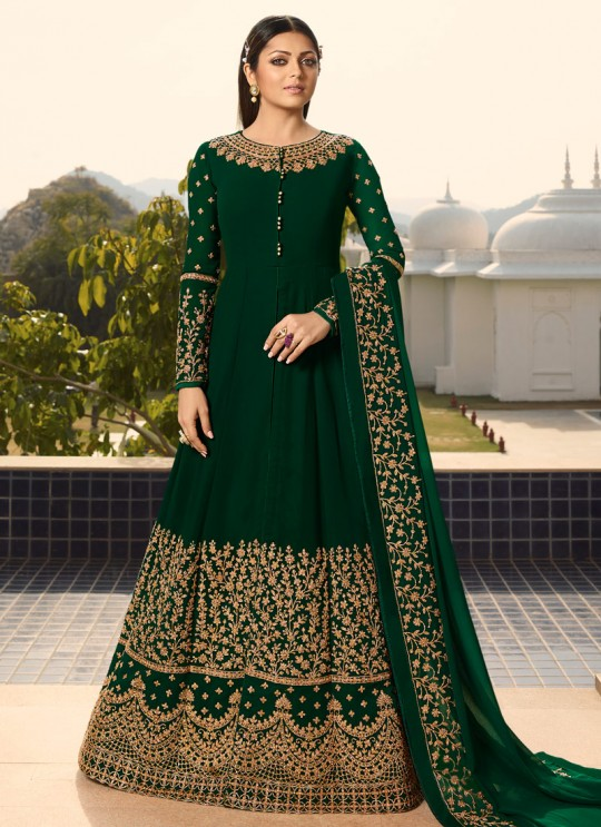 Green Color Embroidered Floor Length Anarkali For Ring Ceremony Nitya Vol 138 3803 By LT Fabrics SC/015362