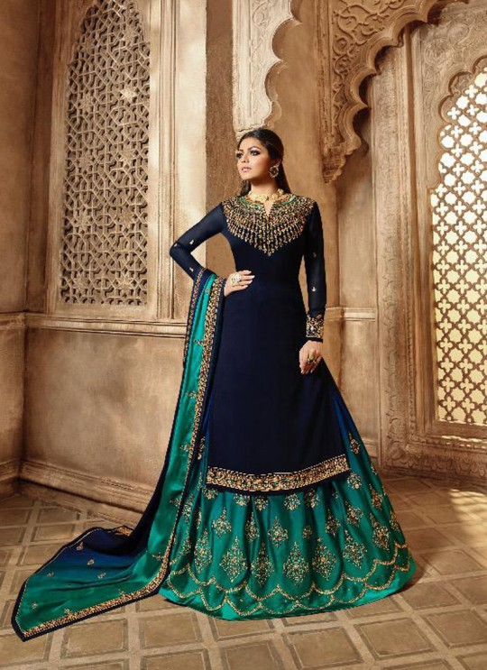 Royal Blue Georgette Traditional Wear Skirt Kameez Nitya Vol 139 3903 Set By LT Fabrics SC/015234