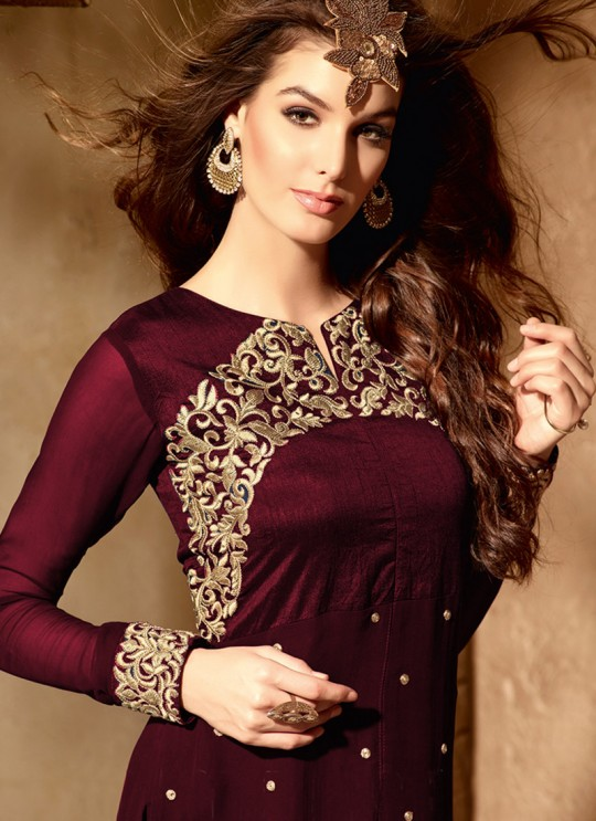 Wine Georgette maskeen Addiction - 6 2002 Straight Cut Suit By Maisha SC/001377