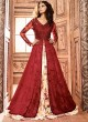 Maroon Georgette MASKEEN ADDICTION 7 3704 Colors 22006 Pakistani Suit By Maisha SC/002462