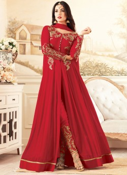 9d47183212 Red Georgette MASKEEN ADDICTION-13 27002 Floor Length Anarkali By Maisha SC /011893