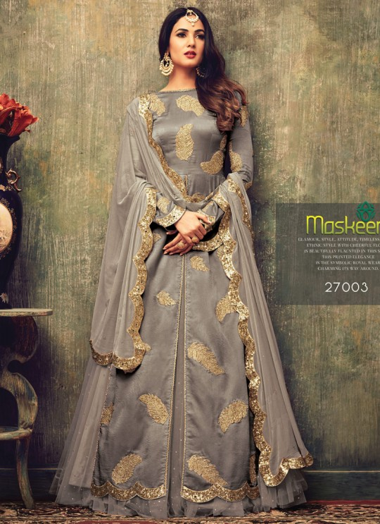 Grey Net MASKEEN ADDICTION-13 27003 Pakistani Suit By Maisha SC/009231