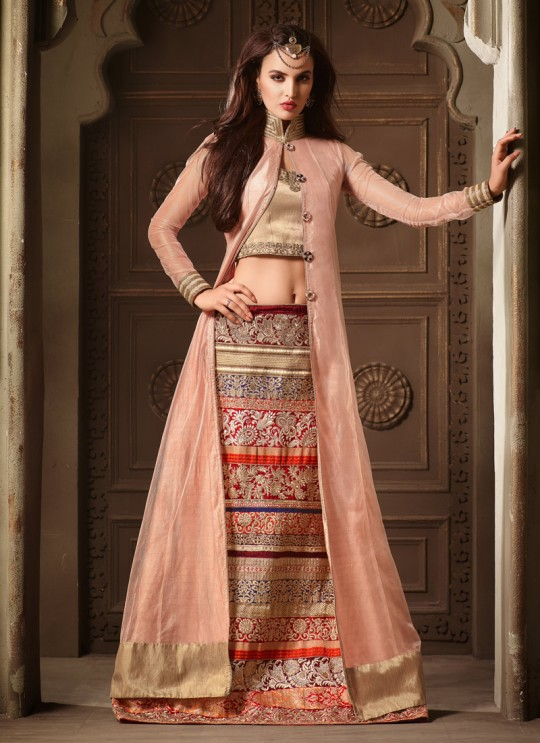 Pink Silk, Net Aster 3404 Lehenga Style Suit By Maisha SC/000335