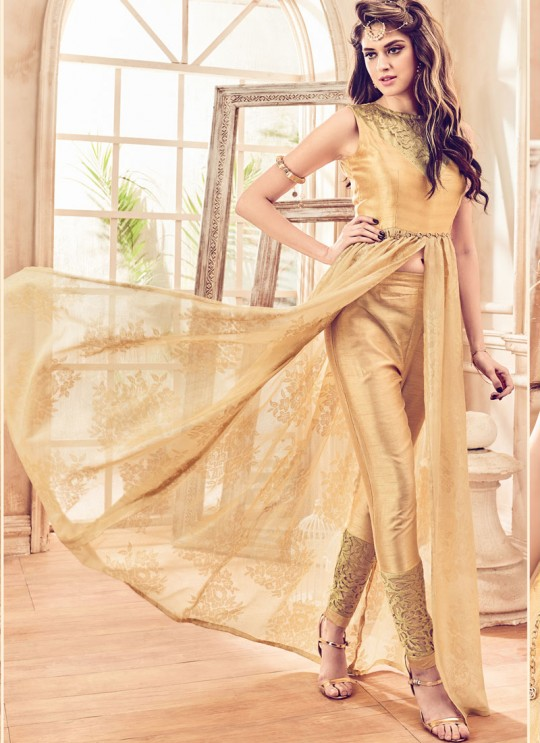 Gold Net Jacquard Mannat 4102 Pakistani Suit By Maisha SC/003126