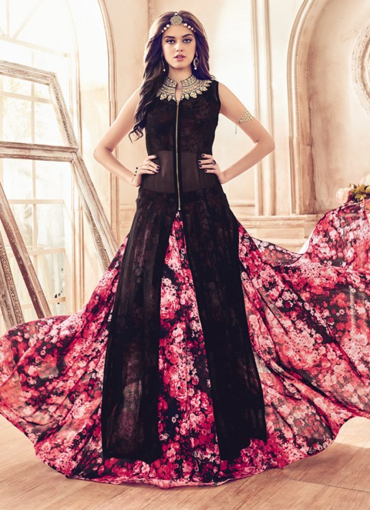 Black Georgette Mannat 4106 Pakistani Suit By Maisha SC/003130