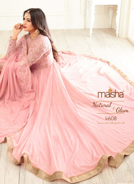 Pink Georgette Sonal Chauhan 4608 Pakistani Suit By Maisha SC/005338