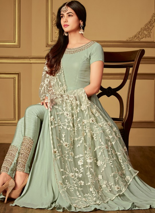 Green Georgette Rumani 6405 By Maisha Anarkali Suit SC/013259