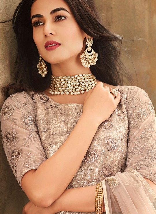 Cream Net  Wedding Wear Gown Style Anarkali Aafreen 6705 By Maisha SC/013824