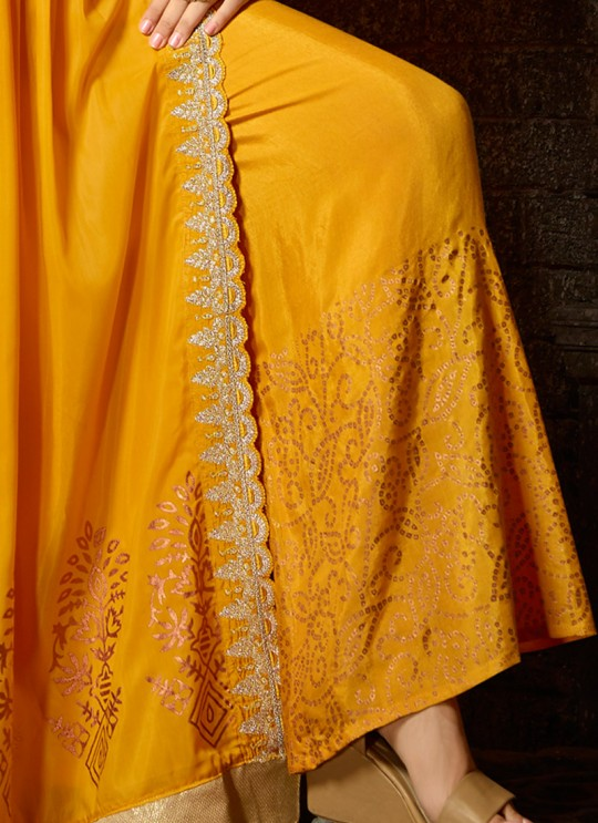 Yellow Masleen Palazzo Suit For Ceremony Mahira 7504 Set By Maisha SC/015882