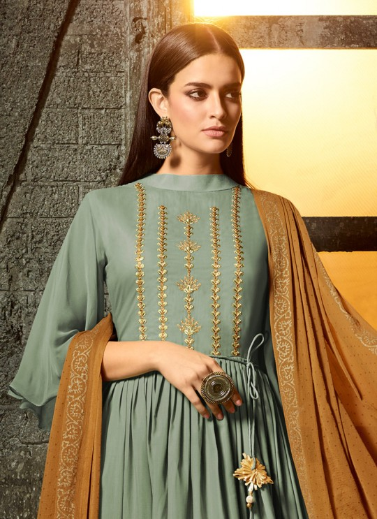 Green Masleen Palazzo Suit For Wedding Ceremony Mahira 7505 By Maisha SC/015880