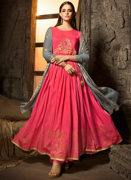 Pink Masleen Palazzo Suit For Wedding Ceremony Mahira 7506 By Maisha SC/015881
