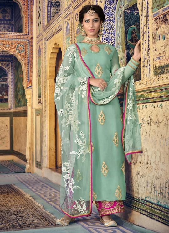 Mehend Embroidered Straight Cut Suit Sultana Vol-2 8101 By Maisha SC/016439