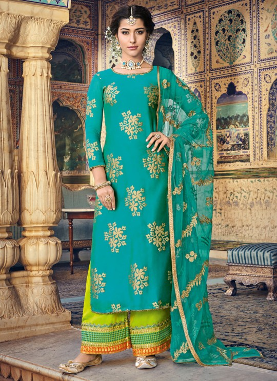 Rama  Chanderi Embroidered Straight Cut Suit Sultana Vol-2 8103 By Maisha SC/016441