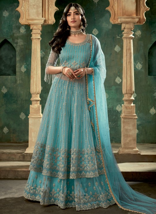 Bridal Lehenga Dress In Blue Glamour Vol 78 By Mohini Fashion 78001