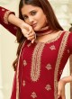 Red Georgette Embroidered Straight Cut Suit Glamour Vol 58 58006 By Mohini Fashion SC/013410
