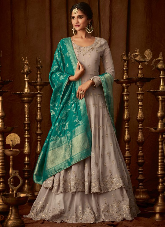 Beige Georgette Wedding Anarkali For Bridesmaids Glamour Vol 64 64003 By Mohini Fashion SC/015185