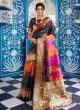 Black Handloom Silk Party Wear Saree KATYANI SILK 96002 By Rajtex