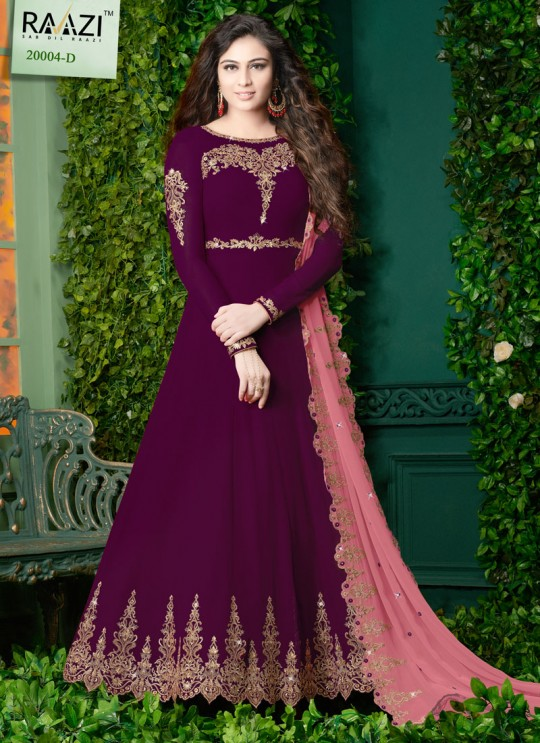 Beige Georgette Wedding Wear Abaya Style Anarkali Almas 20004D Color By Rama Fashions SC/014128