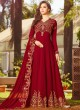 Maroon Georgette Wedding Wear Abaya Style Anarkali Raazi Vol 8 20025 By Rama Fashions SC/013971