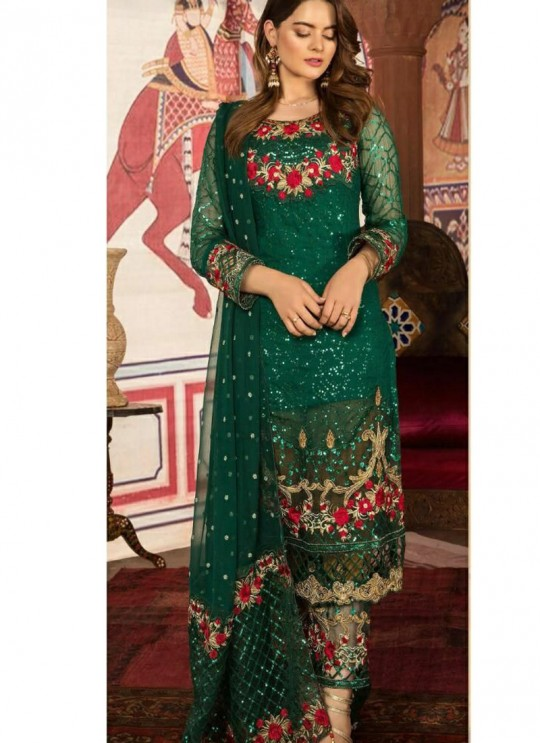 Green Georgette Festival Wear Pakistani Suit SC/016304