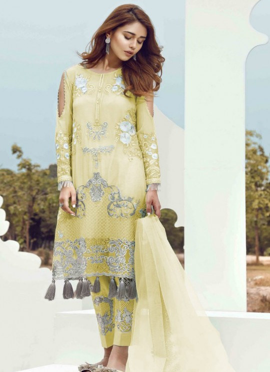 Yellow Georgette Designer Pakistani Suit SC/015045