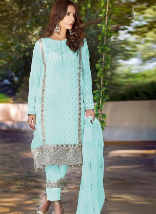 Green Georgette  Pakistani Suit SC/017364