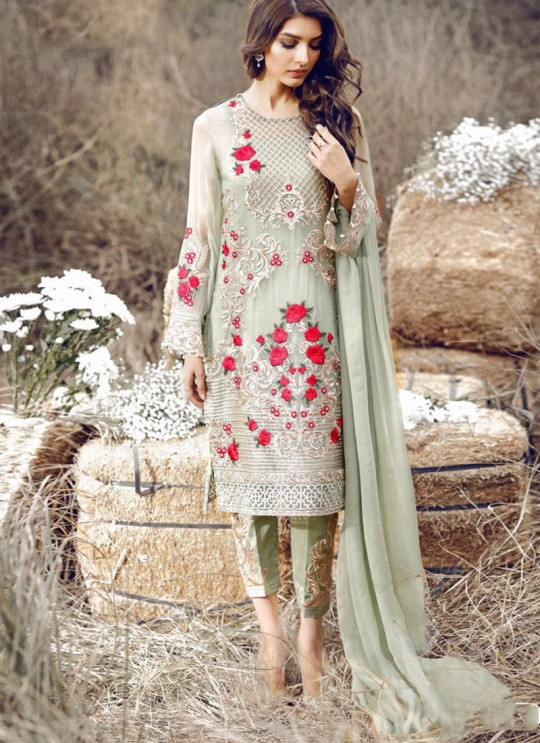 Green Georgette Party Wear Pakistani Suit SC/011844