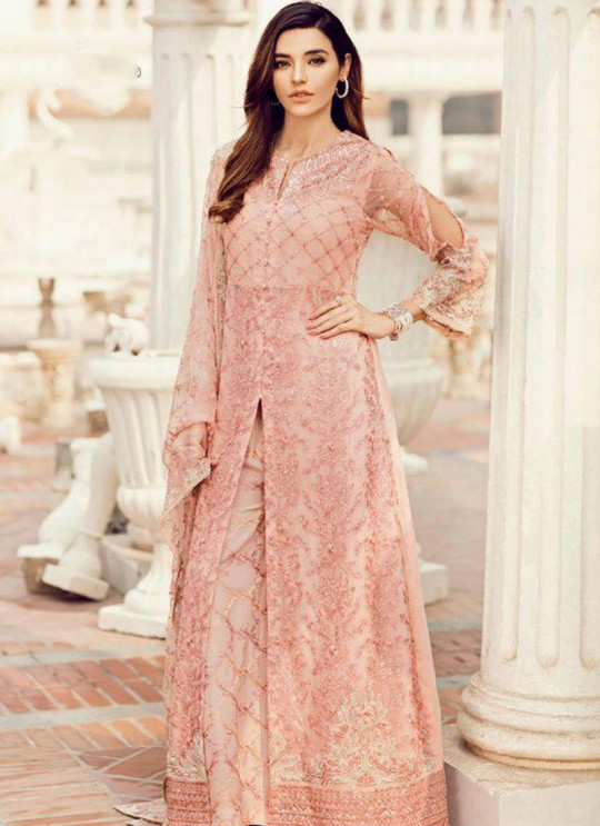 Peach Georgette Party Wear Pakistani Suit SC/017012