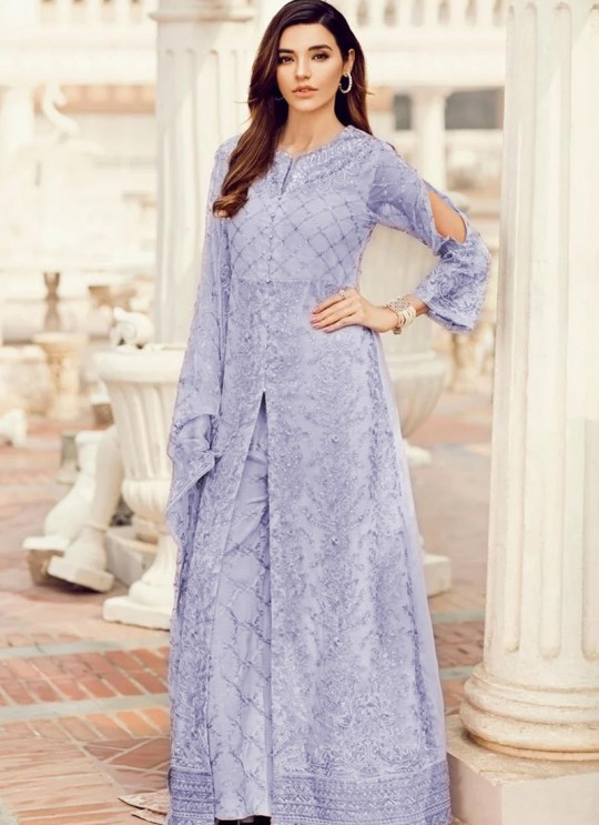 Lavender Georgette Party Wear Pakistani Suit SC/017237