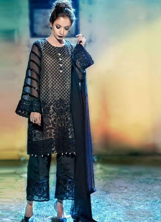 Blue Georgette Wedding Wear Pakistani Suit SC/013202