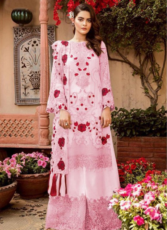 Pink Georgette Party Wear Pakistani Suit SC/016226