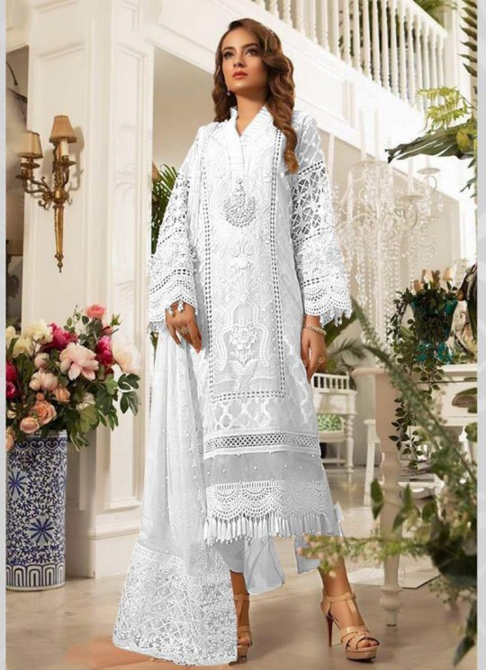 White Georgette Festival Wear Pakistani Suit SC/015766