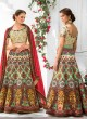 Cream Silk Wedding Wear 2 in 1 A-Line Lehenga & Gown  A-Line Lehenga Signature Collection Season 1 VL102C By Vastreeni