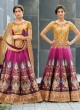 Beige Silk Wedding Wear 2 in 1 A-Line Lehenga & Gown  A-Line Lehenga Signature Collection Season 1 VL105D By Vastreeni