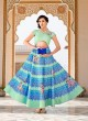 Pista Green Silk Wedding Wear 2 in 1 A-Line Lehenga & Gown  A-Line Lehenga Signature Collection Season 1 VL106A By Vastreeni